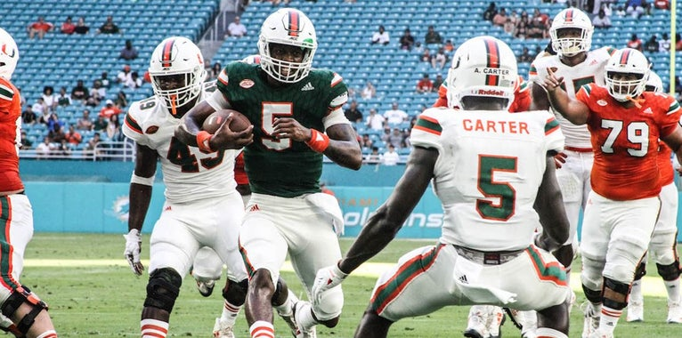 Richt Assesses Miami's Quarterback Race After The Spring Game