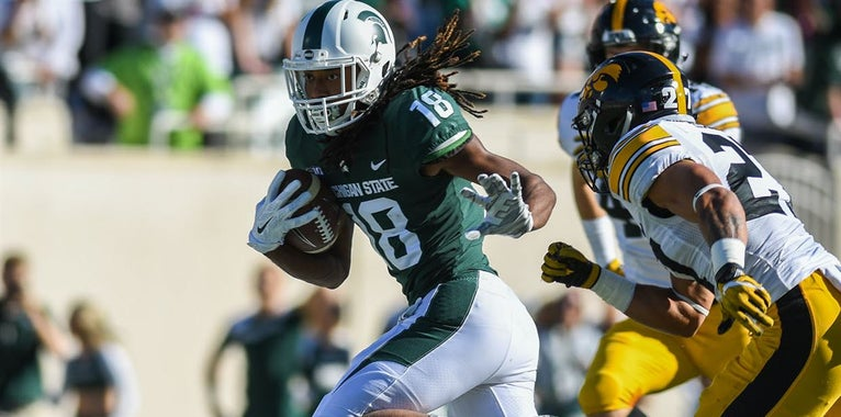 Spartan WR Felton Davis III left off Biletnikoff watch list
