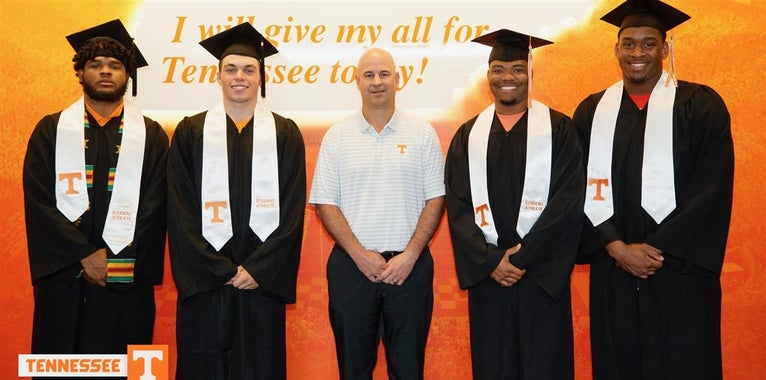 Fourteen Tennessee football players earn degrees