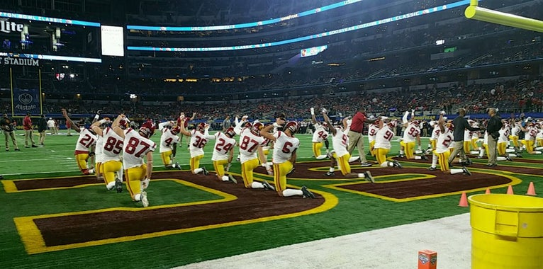 USC won't be back until it's good to go up front