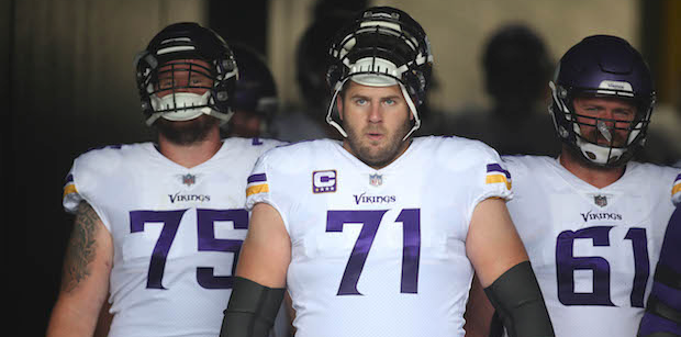 Vikings offensive line ranked 28th in NFL prior to 2018