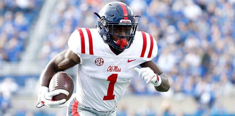 PFF grades Ole Miss' Brown far among norm for wide receivers