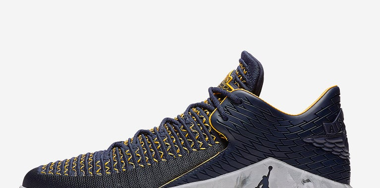 WOTS is Michigan themed Jordan 32s.