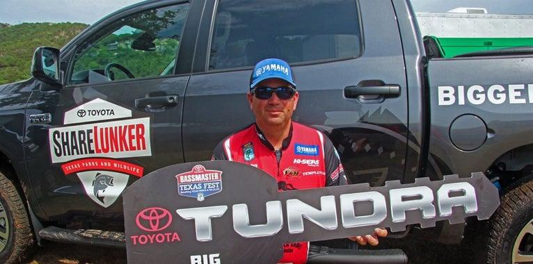 Pace's 10-pounder Nets a Toyota Tundra