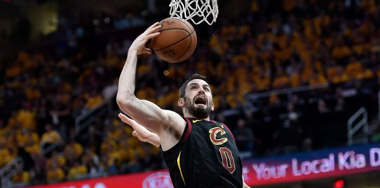 "Kevin Love says it's a ""toss-up"" if he plays in Game 7"