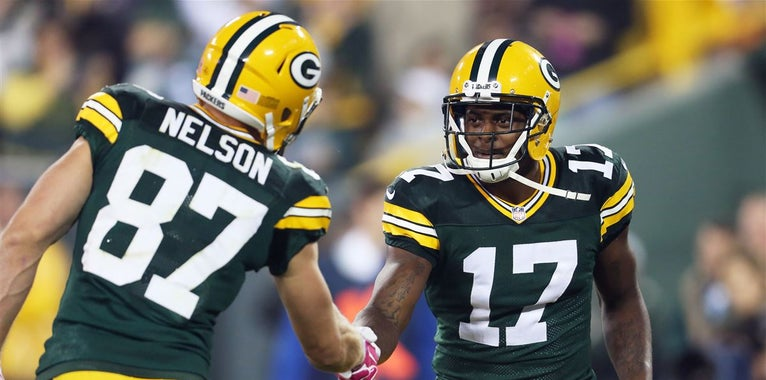 Davante Adams works out with Jordy Nelson