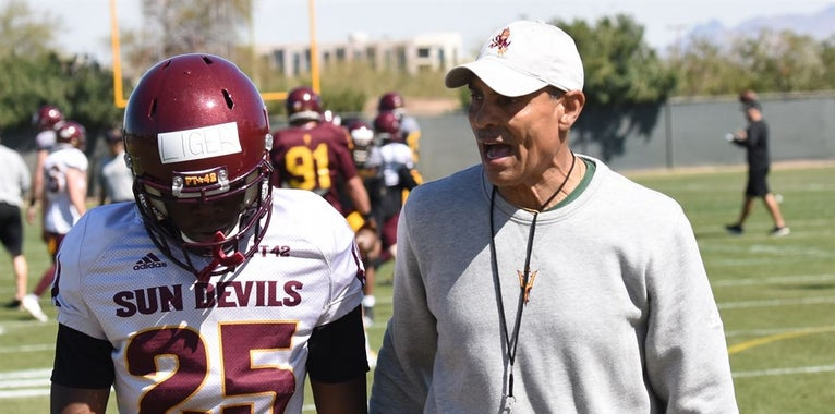 Yelling and cursing? Not much of either at ASU spring ball