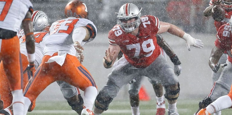 Offensive starters for Ohio State during spring game