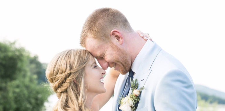 Carson Wentz got married over the weekend