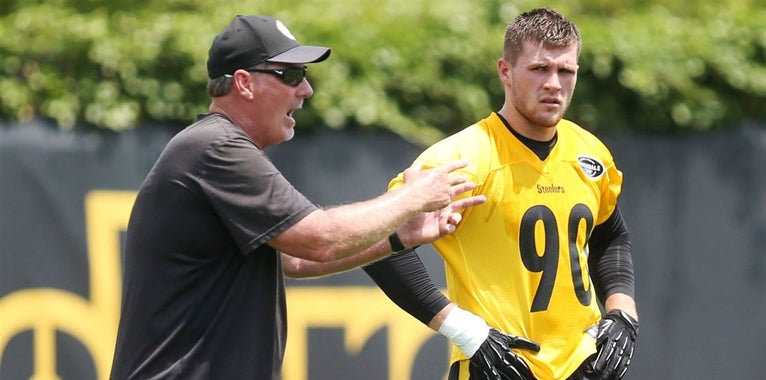 Steelers' defensive coaches take turns on spring hotseat