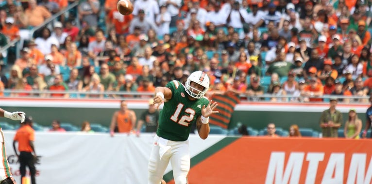 Sporting News Lists Miami's Rosier as a Top 25 QB