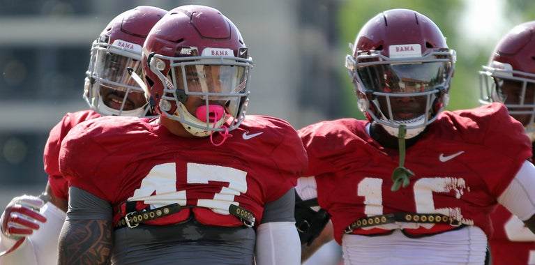 State of Alabama's outside linebackers after Lewis' injury