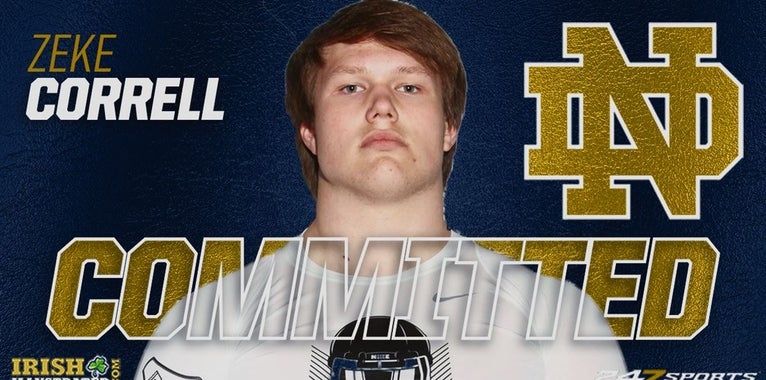 BREAKING: Four-star OL Zeke Correll commits to Notre Dame