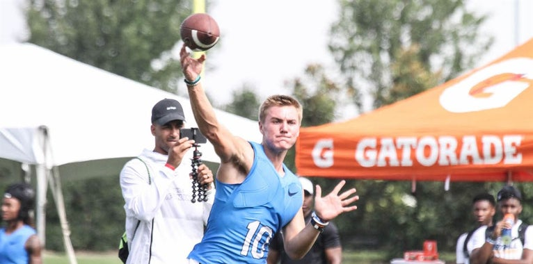 AU Commit Bo Nix Shows Out At Opening, Works On 2019 Class