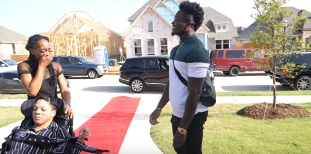 Marquise Goodwin aimed to buy his mom a house since 1999