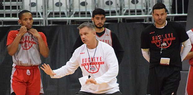 Watch: Buckeyes take to the practice court before Spanish trip