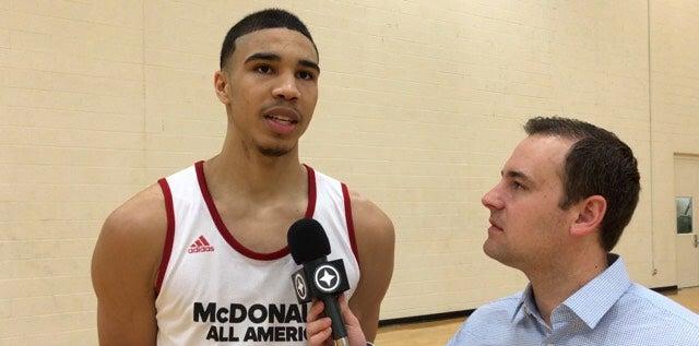 McDs AA: Jayson Tatum talks McDonald's, Duke
