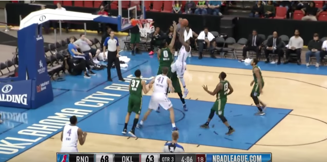 Thunder draft pick records a triple-double in a D-League game