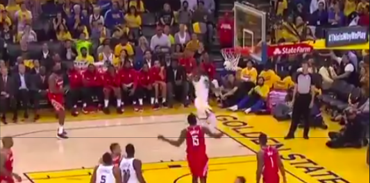 WATCH: Kevin Durant breezes past James Harden for dunk