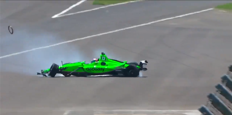 Danica Patrick crashes at Indy 500, ends racing career