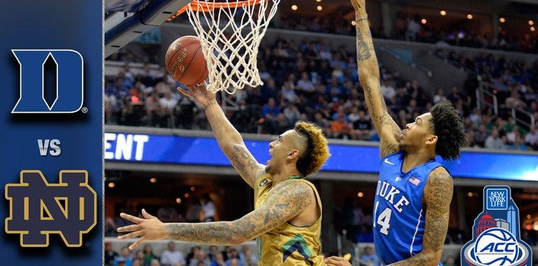 WATCH: Notre Dame 84, Duke 79 Highlights