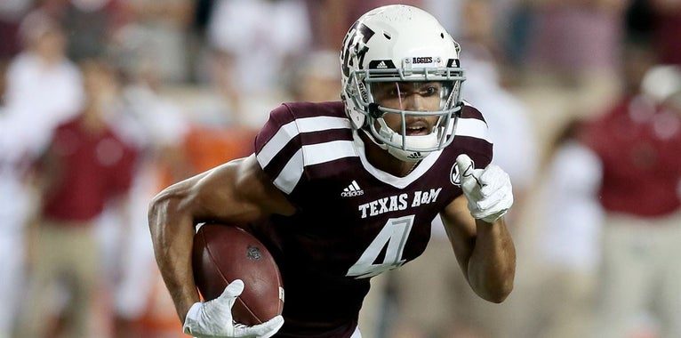A&M's Damion Ratley goes in the sixth to the Browns