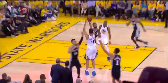 Klay Thompson nails a halftime buzzer-beater in Game 5