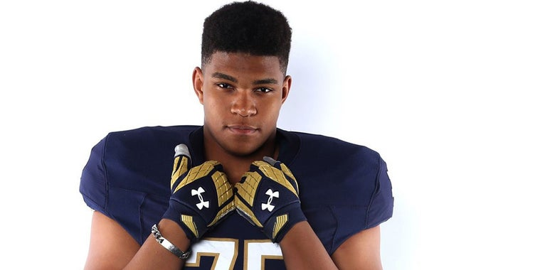 Notre Dame remains in the hunt for a top tackle target
