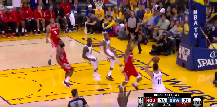 WATCH: Klay Thompson gives Warriors lead with dagger three