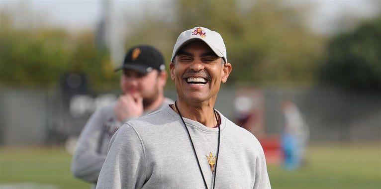 Sun Devils keep it loose in Herm Edwards' first spring practice