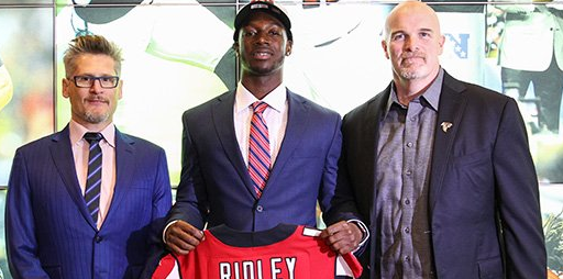 Calvin Ridley signs with Falcons, team confirms