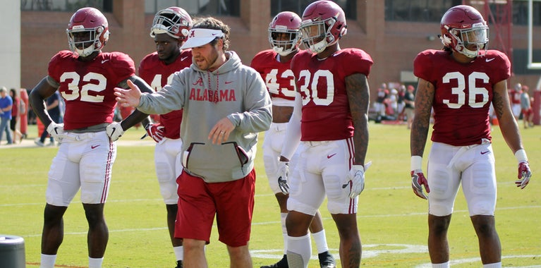 State of Alabama's inside linebackers after Cowan's dismissal