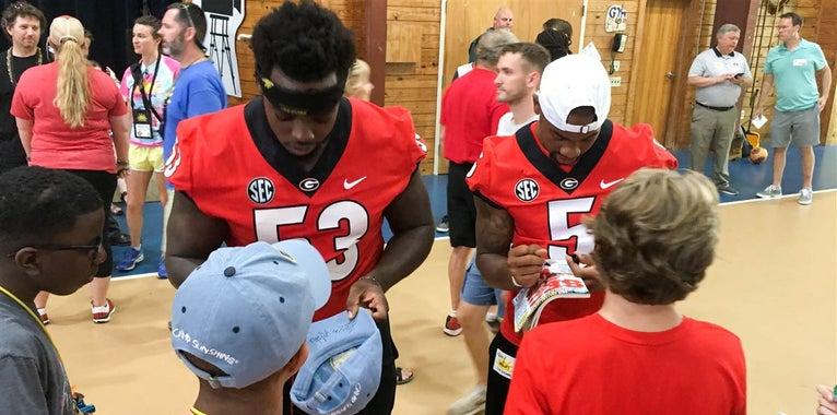 Photos: Georgia Bulldogs give back at Camp Sunshine