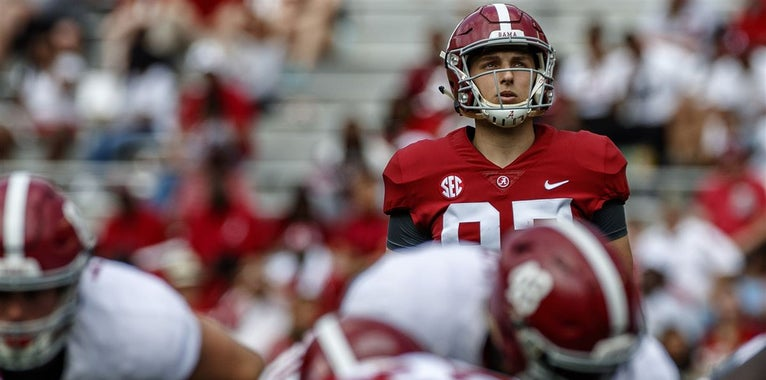 Game balls for Alabama: A-Day