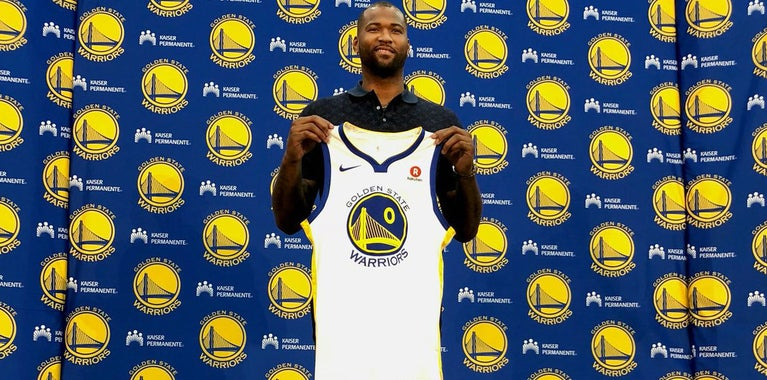 DeMarcus Cousins had to pay Patrick McCaw to wear No. 0