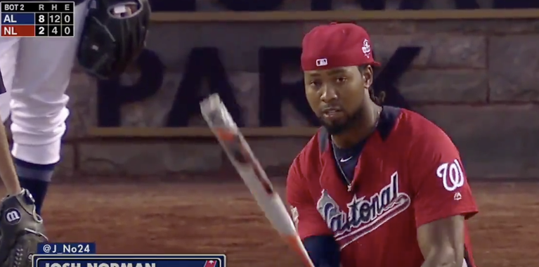 Josh Norman impresses at MLB All-Star Celebrity Softball Game
