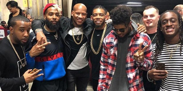 Odell Beckham Jr. attends playoff game with Pittsburgh Steelers