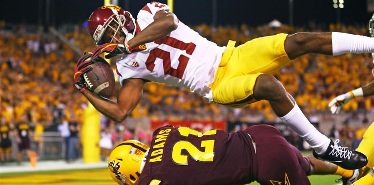 PFF takes look at USC WR Vaughns' route tree success in 2017