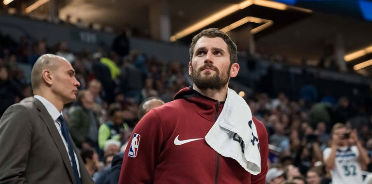 """Kevin Love says it's a """"toss-up"""" if he plays in Game 7"""
