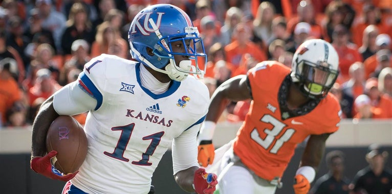 KU football's Mavin Saunders, Steven Sims on award watch lists