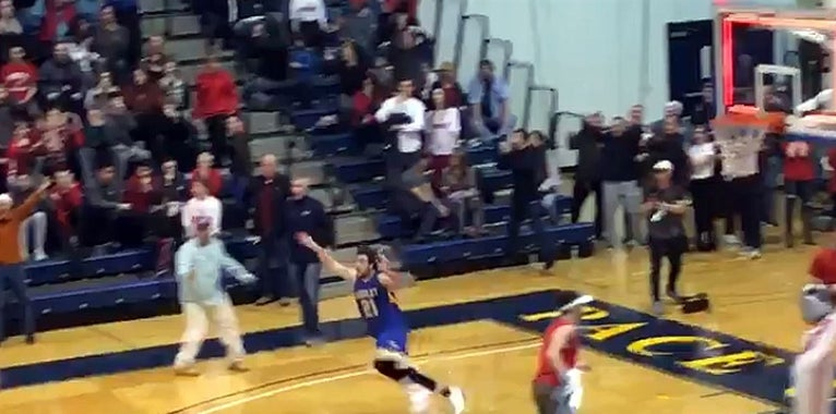 Watch mind blowing buzzer beater wins section title