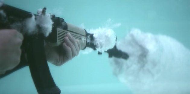 EPIC Footage Of AK Firing Underwater