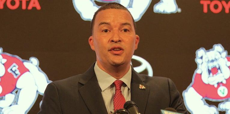 Fresno State introduces new men's basketball coach Justin Hutson