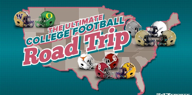 The ultimate college football road trip for the 2018 season