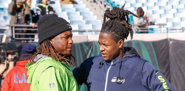 Earl Thomas works out with Shaquill and Shaquem Griffin