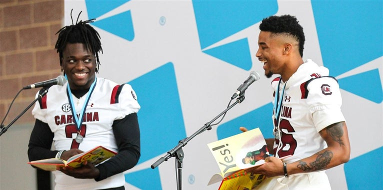 In Photos: Gamecocks participate in 22nd annual Pigskin Poets