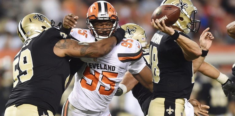 Browns Without Four Members of Their Defense