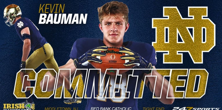 BREAKING: Elite tight end Kevin Bauman commits to Notre Dame
