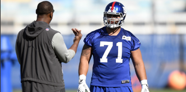 Will Hernandez makes an excellent impression on Chris Snee
