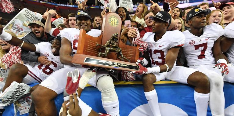 Media votes Alabama to win 2018 SEC Championship